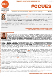 #CCUES L'information de vos représentants CFDT au CCUES d'Orange N° 16