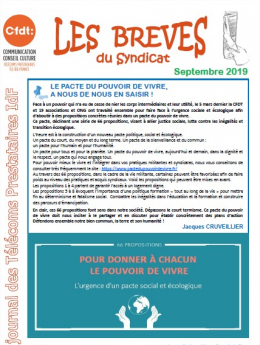 BREVES DU SYNDICAT